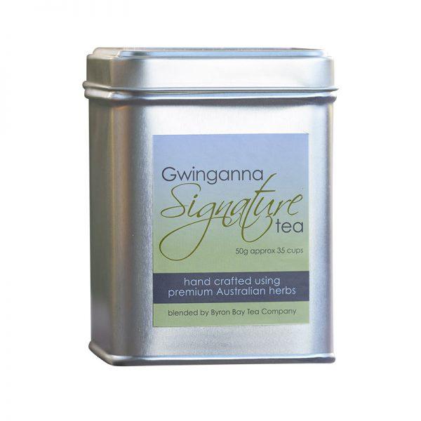 Tin of Gwinganna herbal tea