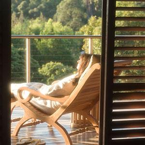 Relaxing on verandah