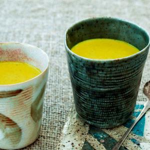 Close up of Chai Golden Milk in mugs